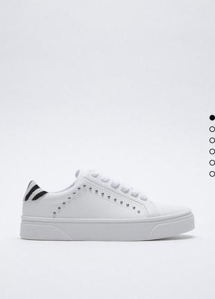Кроссовки белые кеды на платформе базовые zara оригинал