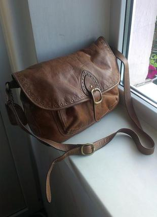 Кожаная сумка marks & spencer limited collection