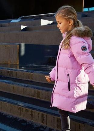 Зимний пуховик пальто для девочки lego wear р.104-110 lenne reima columbia