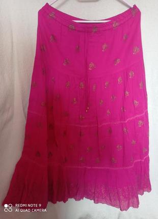 🔥 распродажа❗🔥 длинная юбка ярко-розовая
