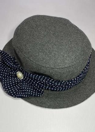 Шляпа с бантом river island, как новая!