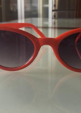 Солнцезащитные очки кошечка коралловый красный цвет
