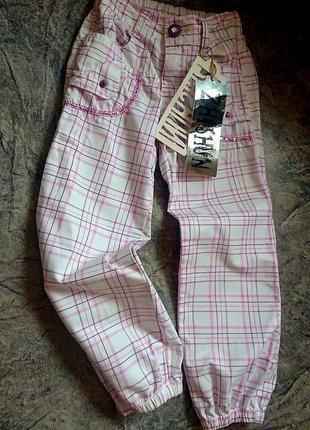 Летние хлопковые брюки на девочку.