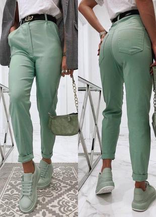 Джинсы штаны брюки оливка