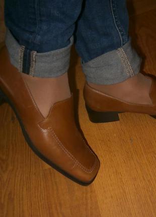 Мокасины,туфли, низкий ход кожа 6 1/2 , 26 см