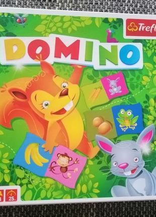 Детская настольная игра домино лесные жители