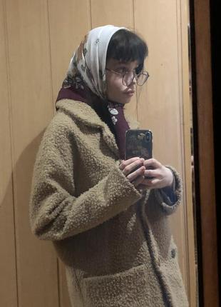 Пальто плюшевое