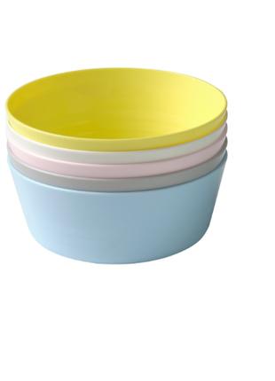 Миска, разные цвета, в наборе 6 шт