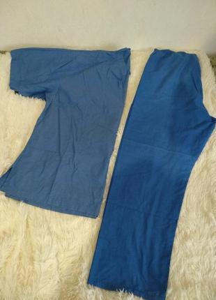 Медицинский набор одежды. мед брюки. мед штаны. мед рубашка. набор в роддом.