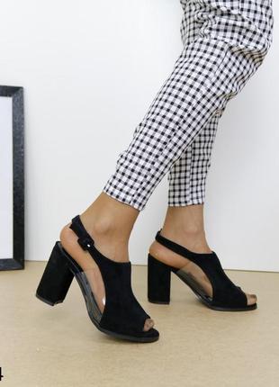 Босоножки на устойчивом каблуке, босоножки с силиконовыми вставками