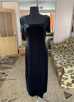 Велюровое платье миди marks&spencer