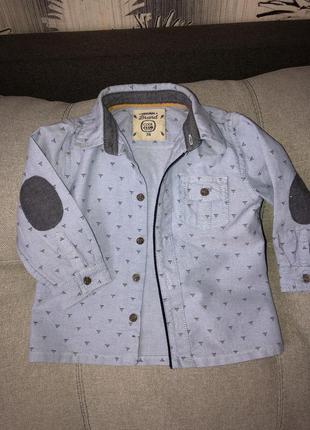 Стильна джинсова сорочка tm cool club 74см