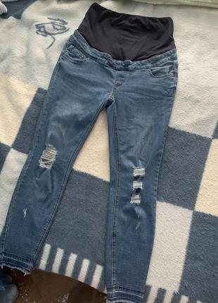 Крутые джинсы скинни для беременных