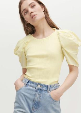 Блузка с объемными рукавами reserved