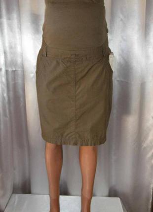 Стильная юбка для будущих мам, хлопок, yessica, р. 34