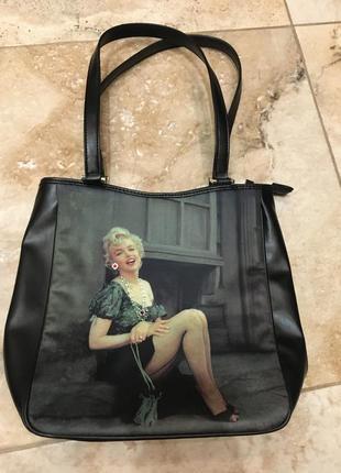 Винтажная сумка с мэрилин монро