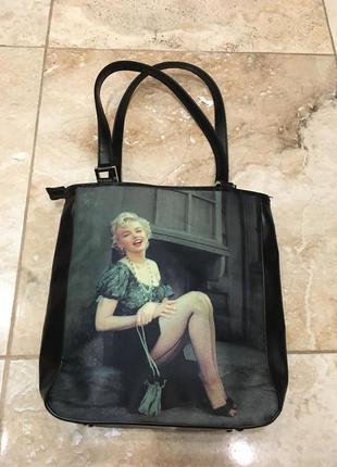 Винтажная сумка с мэрилин монро4 фото