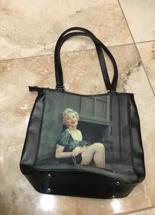 Винтажная сумка с мэрилин монро6 фото