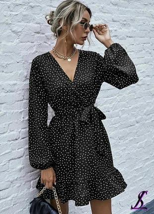 Платье женское в горошек 🌺
