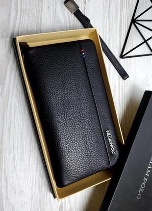 Универсальный кожаный чехол кошелек william polo оригинал (243 black) черного цвета