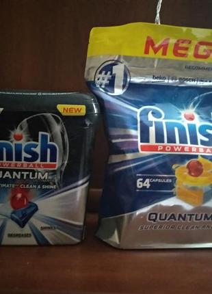 Капсули для посудомийної машини  finish quantum max ultimate оригінал з європи
