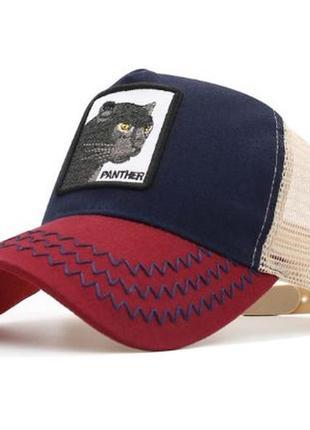 Кепка с сеткой goorin brothers panther, летняя кепка унисекс