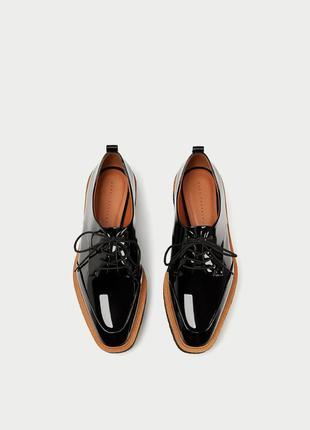Лаковые туфли на платформе zara