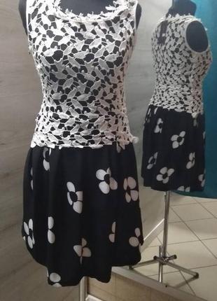 Платье обманка с кружевом