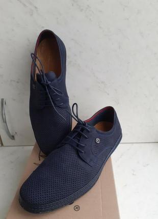 Новые мужские туфли kadar,натуральная кожа, 42 р., стелька 27,5