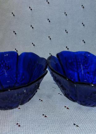 Синие пиалы, креманки винтаж