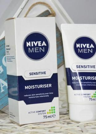 Увлажняющее средство для чувствительной кожи nivea men sensitive moisturiser 75 ml