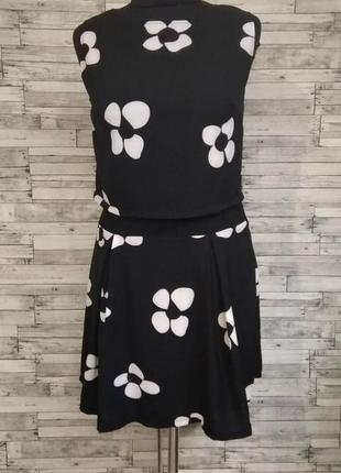 Черное шифоновое платье обманка
