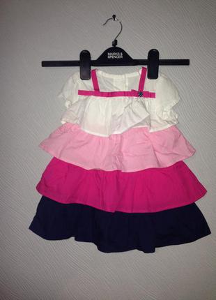 Платье рюшка crazy 18-24 м