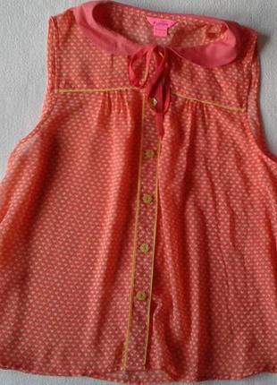 """Красивая полупрозрачная блуза с сердечками """"monsoon"""" fushion"""