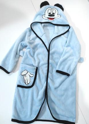 Плюшевый халат микимаус на 4 года