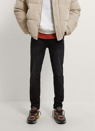 Zara чоловічі джинси чорні новые мужские черные джинсы