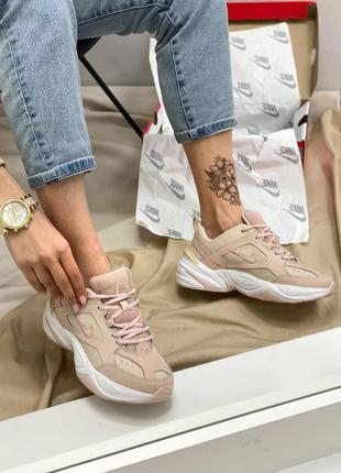 Женские кроссовки nike air m2k tekno pink
