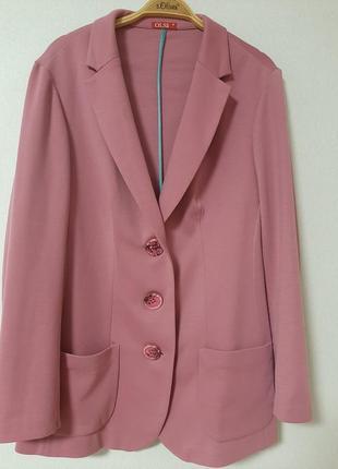 Стильный , трикотажный пиджак 54- 56р.