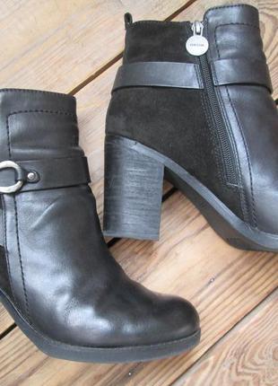 Ботильоны geox полусапожки ботинки на каблуке демисезонные