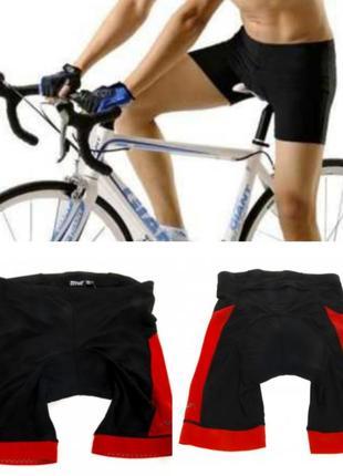 Велосипедные шорты crivit s m черно-красные