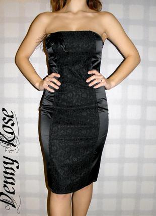 Платье-бюстье denny rose черное