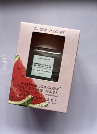 Glow recipe/sleeping mask/маска/ночная маска/маска с кислотами/арбузная маска