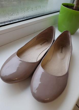 Туфлі балетки шкіра