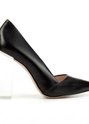 Туфли лаковые/черные туфли/женские туфли средний каблук/туфли лодочки