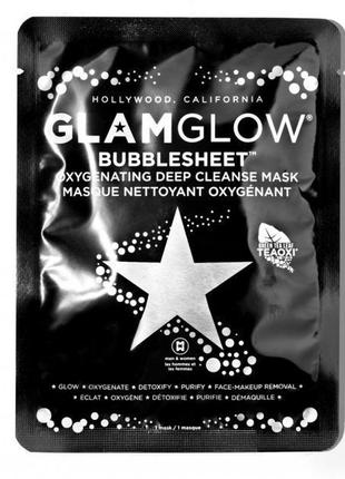 Кислородная глубокоочищающая маска glamglow bubblesheet oxygenating deep cleanse mask