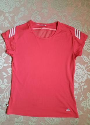 Спортивная  футболка adidas  розовая для спорта оригинал
