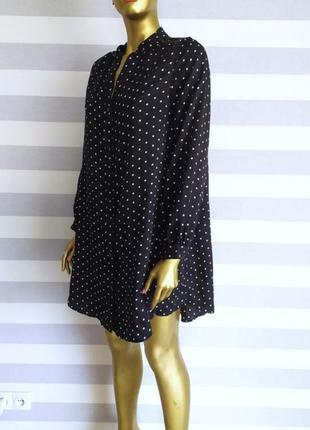 Трендовое платье платье-рубашка в горошек h&m новых коллекций