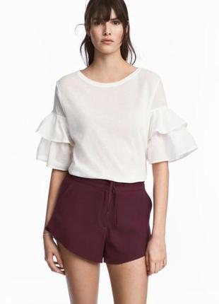 Креповые короткие шорты тверк h&m