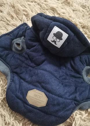 Одежда для маленькой собаки щенка куртка жилетка кофта костюм для животных комбинезон