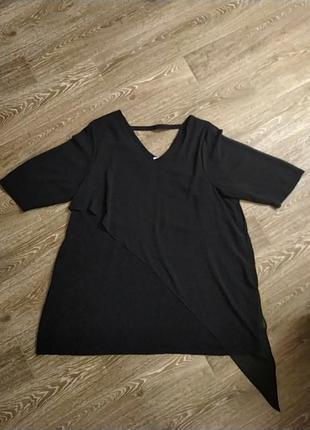 Батал большой размер шикарное эффектное стильное чёрное платье плаття чорна сукня
